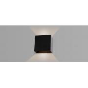 Arandela Parede 4w LED 3000k 2 Frisos Multi Efeitos HM 38117 Preto