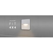 Balizador Parede 3w LED 3000K Branco Quente 4x4 uso Externo 110lm DN 80365 BRANCO