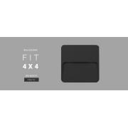 Balizador Parede 3w LED 3000K Branco Quente 4x4 uso Externo 110lm DN 80365 PRETO