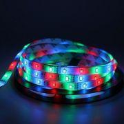 Fita LED 12v RGB 14.4W 5050 72w 300 Leds IP65 5 Metros + Controle