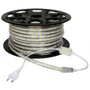 Fita LED 4.8w/M 127v 3000k Branco Quente SMD3528 120w IP65 50 Metros FT31606