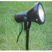 Kit 6 Luminaria PAR20 Espeto E27 Jardim MAXLUZ PE03 Fechado Preto