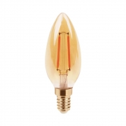 Lampada LED Vela 2w 2400k Filamento E14 200LM Bivolt LP171