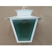 Luminaria Pendente Ideal Colonial E27 Quadrado L7C Branco