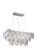 Lustre de cristal Cancun Retangular Transparente 140140040 G9 Bivolt