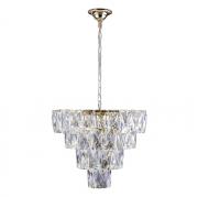 Lustre de cristal Fasano 50cm Dourado 140140012 G9 Bivolt