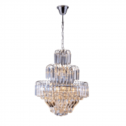 Lustre de Cristal Floratas Cromado 140120000 E27 Bivolt