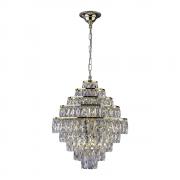 Lustre de cristal Florença Belle 45cm Dourado 140140018 G9 Bivolt