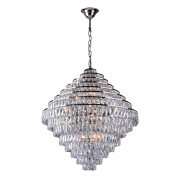 Lustre de cristal Florença Belle 80cm Cromado 140140019 G9 Bivolt