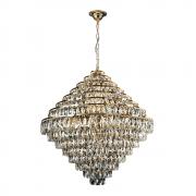 Lustre de cristal Florença Belle 80cm Dourado 140140024 G9 Bivolt