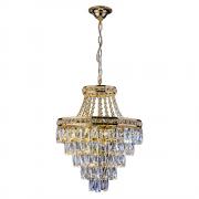 Lustre de cristal Florença Dourado 140140003 G9 Bivolt