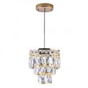 Lustre de cristal Florença Mini Dourado 140140021 G9 Bivolt
