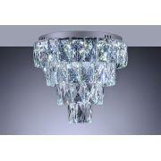 Plafon de cristal Fasano Led 45cm Cromado 140140022 Bivolt