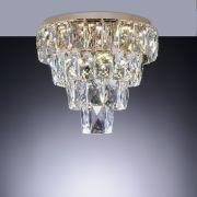 Plafon de cristal Fasano Led 45cm Dourado 140140023 Bivolt