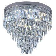 Plafon de cristal Florença 45cm Cromado 140140015 Bivolt