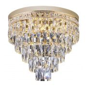 Plafon de cristal Florença 45cm Dourado 140140016 Bivolt