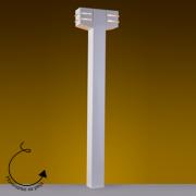 Poste Balizador Alumínio 100cm Halopin 2xG9 Flash Quadrado PA-9500/2 Ideal