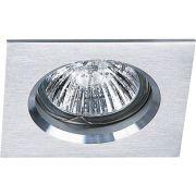 Spot Dicroica GU10 Embutir Quadrado Fit Alumínio Escovado NS1002A
