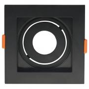 Spot Embutir Quadrado Mini Dicróica GU10 MR11 Conecta ABS DL146MDB Preto