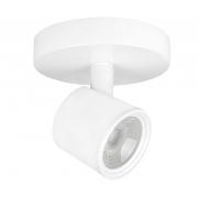 Spot Sobrepor 7w LED 3000k Branco Quente Canopla Bivolt IP20 Branco ECO 36236