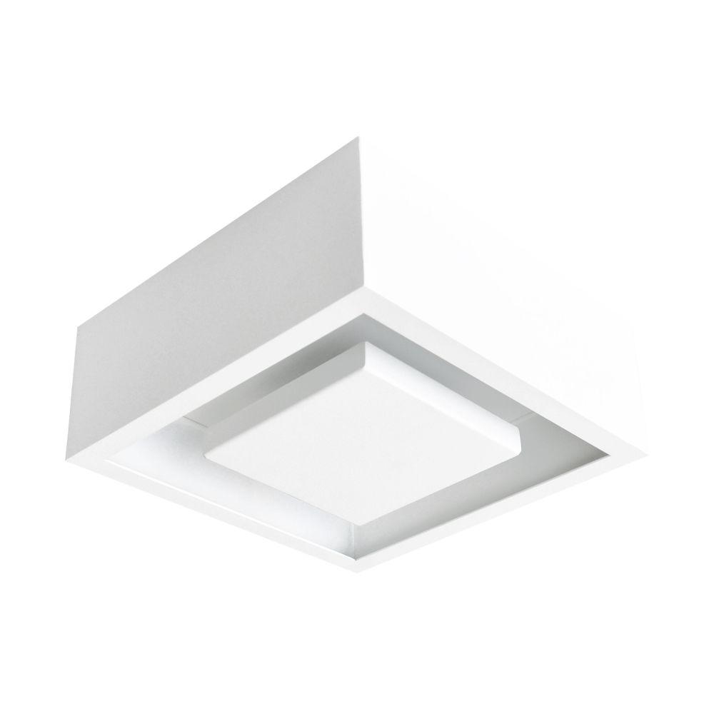 Plafon Sobrepor Quad LED 12W DL081WW Hide  - OUTLED ILUMINAÇÃO