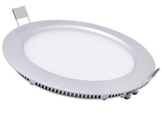 Plafon 12w 3000K LED Painel Embutir Redondo Smart DL084WW  - OUTLED ILUMINAÇÃO