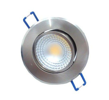 Spot LED 5w 3000k Embutir Redondo Escovado Dirigível COB DL104A  - OUTLED ILUMINAÇÃO