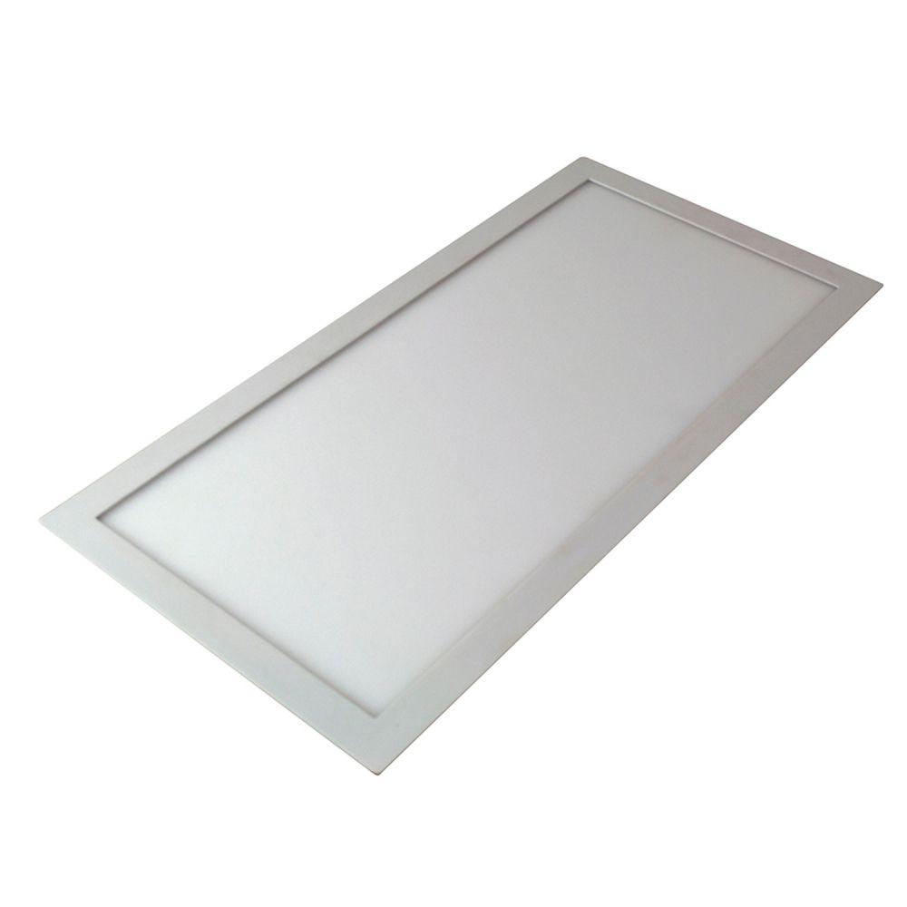 Plafon LED 48w 6000k Embutir Retangular Branco 30X120X3,5CM  - OUTLED ILUMINAÇÃO