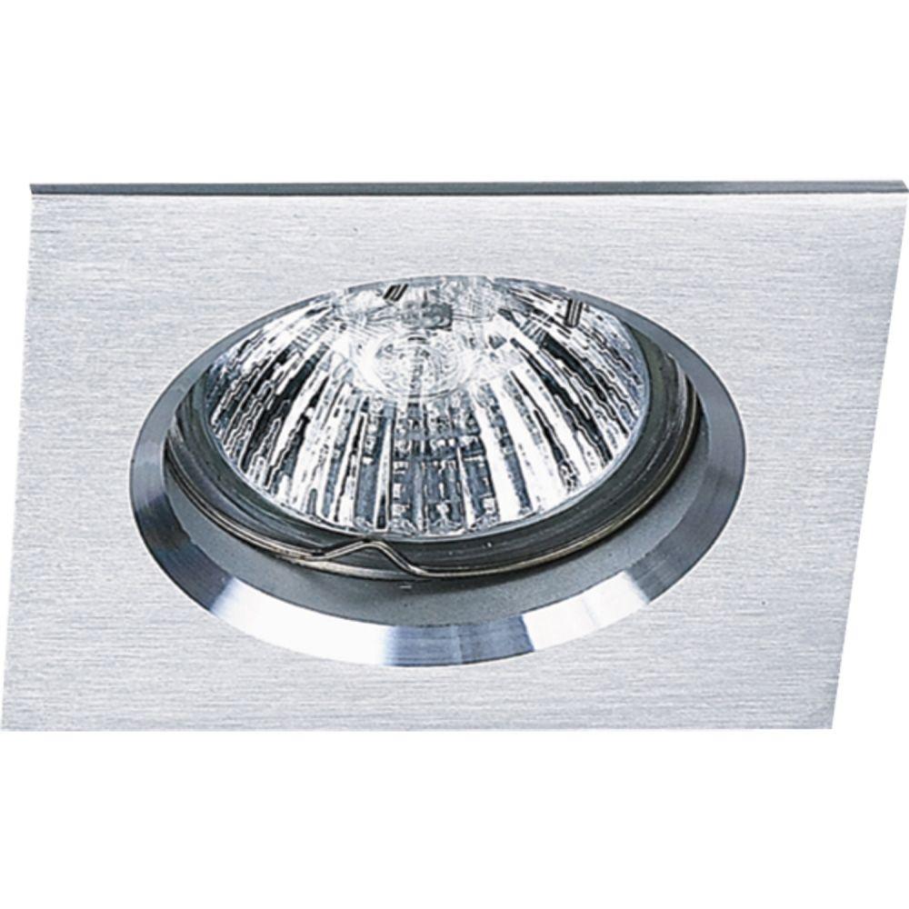 Spot Dicroica GU10 Embutir Quadrado Fit Alumínio Escovado NS1002A  - OUTLED ILUMINAÇÃO