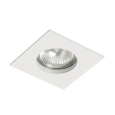 Spot MINIDICROICA GU10 Embutir Quadrado Branco NS1003B FIT