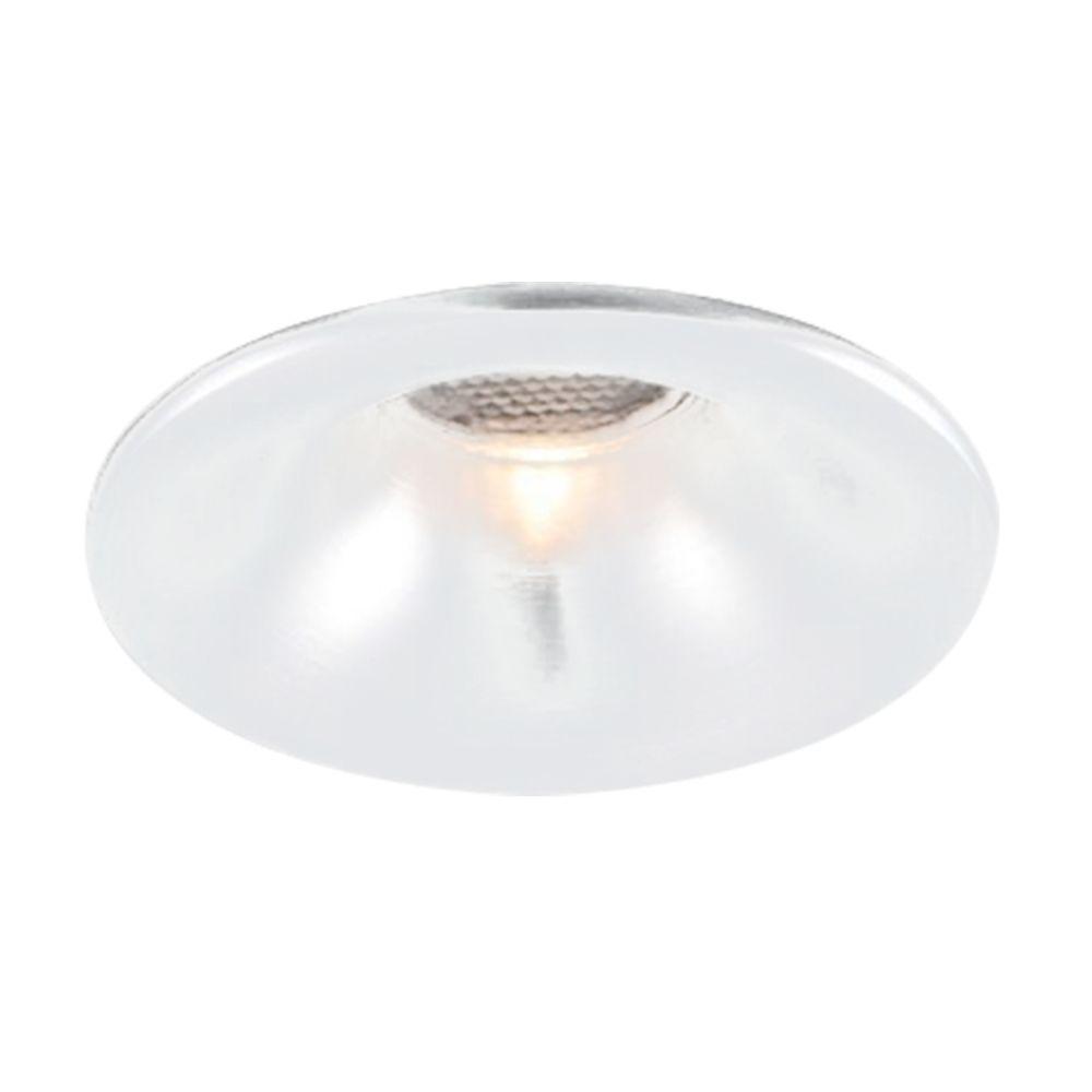 Spot 3w 3000k LED Embutir Redondo Alumínio Escovado NS1008AL FIT  - OUTLED ILUMINAÇÃO