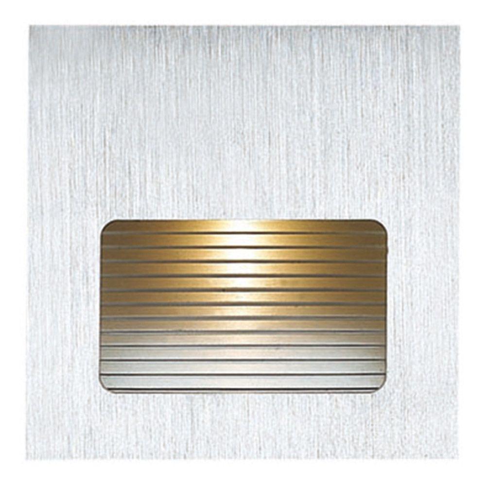 Balizador LED 3w 3000k Parede Embutir Quadrado Risca Branco NS1015  - OUTLED ILUMINAÇÃO