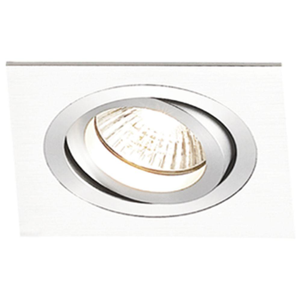 Spot AR111 Embutir Quadrado Ecco Branco NS5111B  - OUTLED ILUMINAÇÃO
