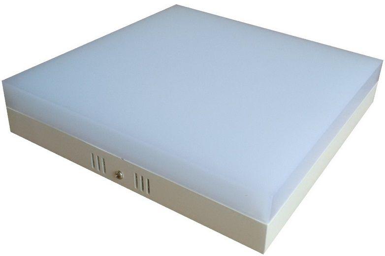 Plafon LED 25w 6000k Painel Acrílico Sobrepor Quadrado Branco Frio  - OUTLED ILUMINAÇÃO