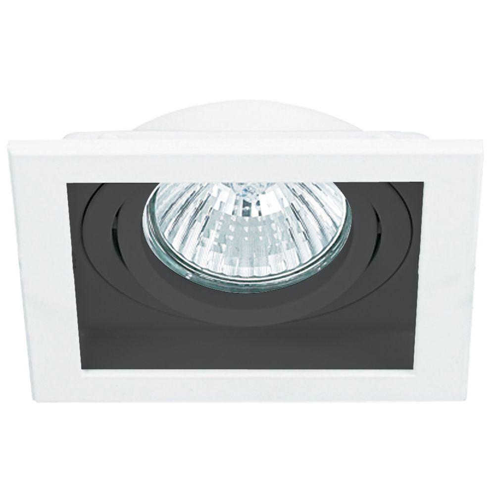 Spot AR111 Embutir Quadrado Branco e Preto NS7111P Preto  - OUTLED ILUMINAÇÃO