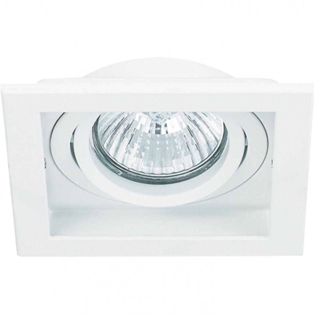 Spot PAR30 Embutir Quadrado Branco NS7301B Branco