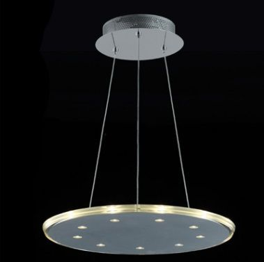 Lustre 46cm 27w 3000k LED Pendente Redondo Cromado KL017L  - OUTLED ILUMINAÇÃO