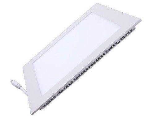 Plafon LED 18w 3000k Painel Embutir Quadrado Bivolt Branco Quente  - OUTLED ILUMINAÇÃO