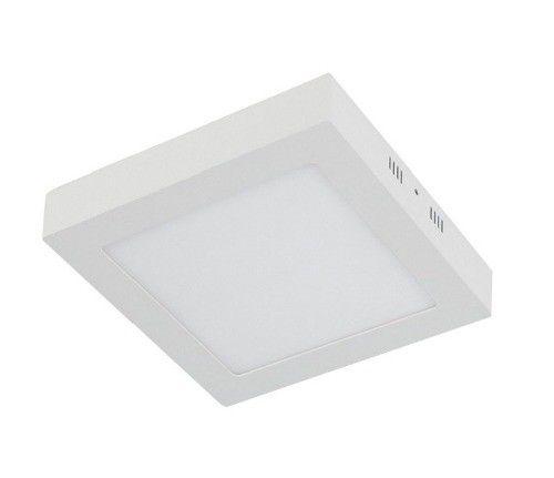 Plafon LED 6w 6000k Painel Quadrado Sobrepor Branco Frio  - OUTLED ILUMINAÇÃO