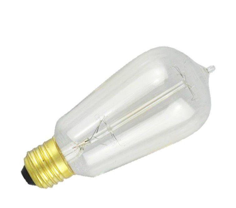 Lampada 40w 127v 2700k Filamento de Carbono ST64 E27 Dimerizavel LP047A  - OUTLED ILUMINAÇÃO