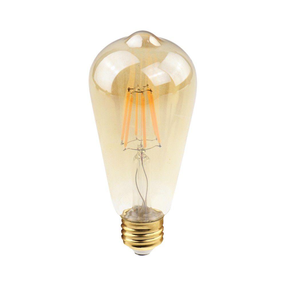Lampada 2w 2400k LED Filamento ST38 E27 200LM Bivolt LP169  - OUTLED ILUMINAÇÃO