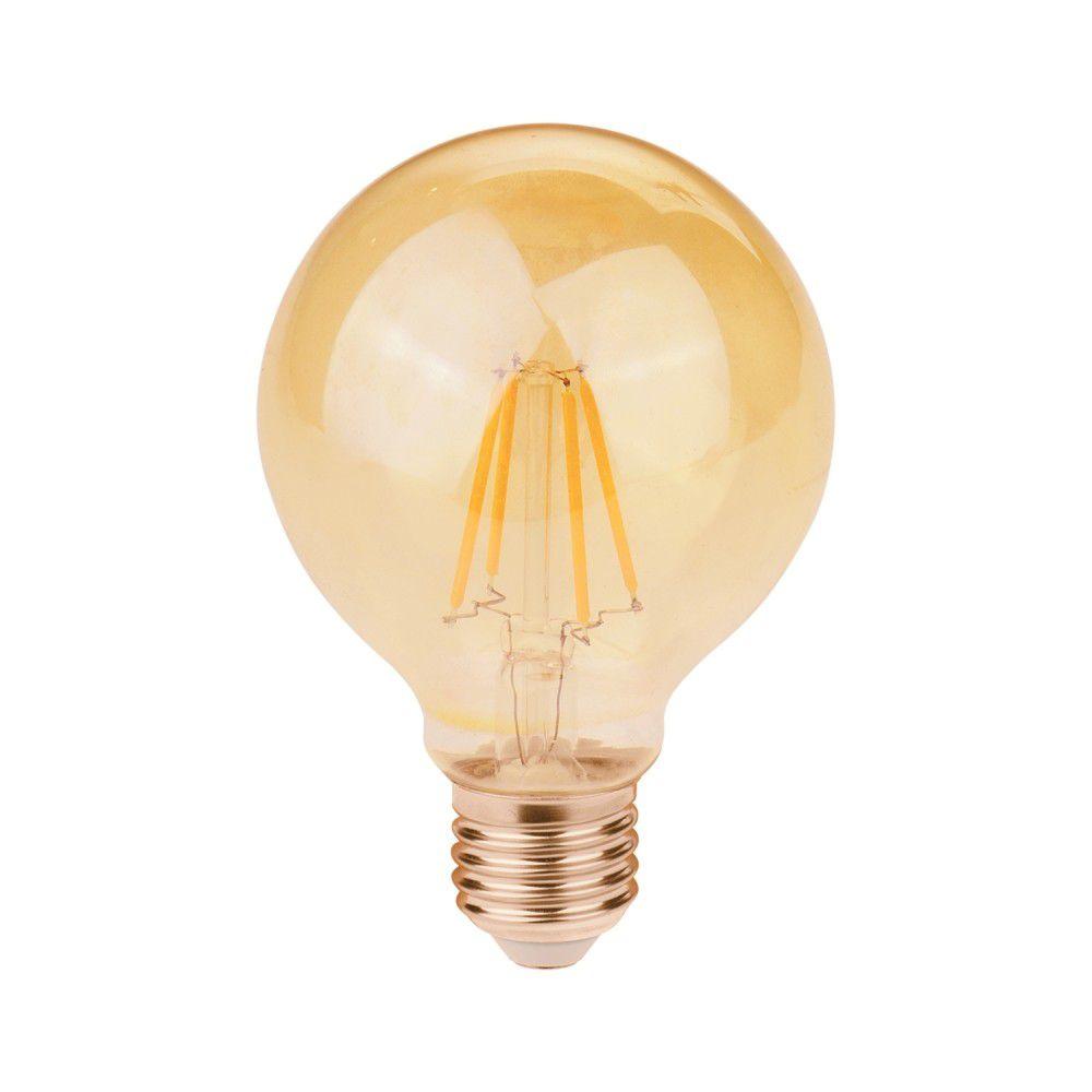 Lampada LED 2w 2400k E27 Filamento G80 200LM Bivolt LP170  - OUTLED ILUMINAÇÃO