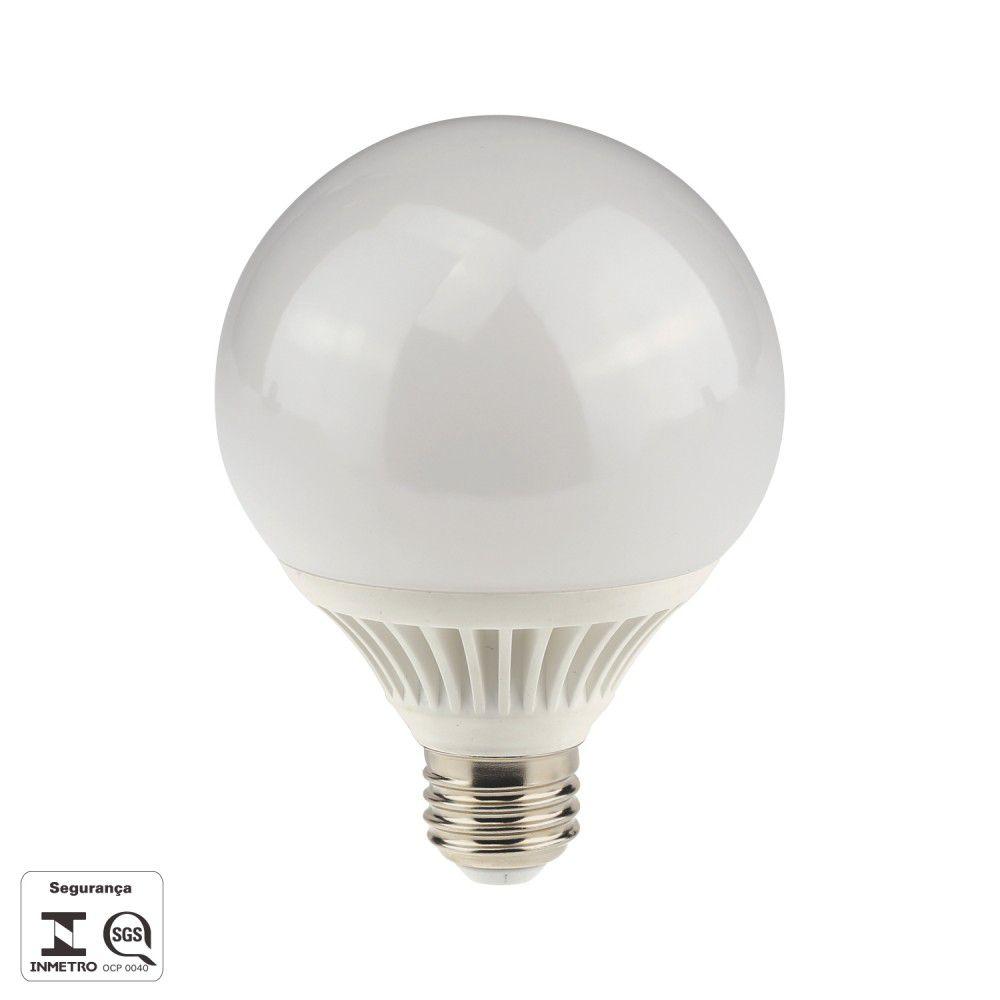 Lampada 9w 3000k LED Baloon E27 700LM Bivolt Branco Quente LP123C  - OUTLED ILUMINAÇÃO