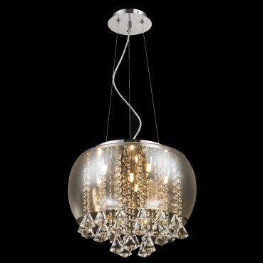 Lustre 40cm 6 Lampada G9 Plafon Pendente PL-014/6.40CL Cromado  - OUTLED ILUMINAÇÃO