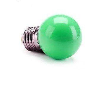 Lampada LED 1w 127v Bolinha Verde  - OUTLED ILUMINAÇÃO