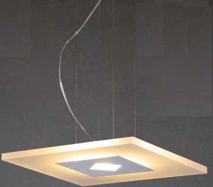 Lustre 25w 3000k LED Pendente em Aluminio Acrilico ZU008L Bivolt