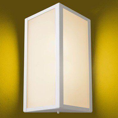 Arandela em Alumínio Branca Triangular 30cm Bolt 285 Ideal