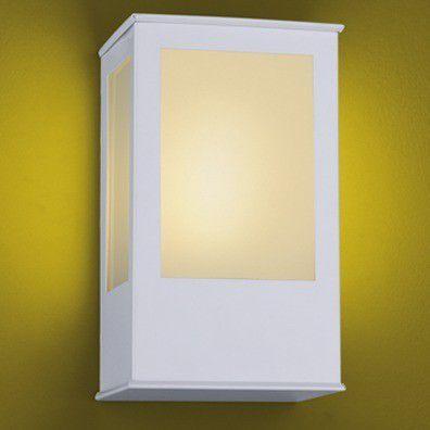 Arandela Parede E27 Bolt 286 Branca Ideal Quadrada Alumínio