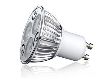 Lampada LED 3w 3000k GU10 Dicroica Bivolt Branco Quente  - OUTLED ILUMINAÇÃO