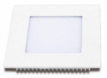 Plafon 6w 3000k LED Painel Embutir Quadrado Bivolt Branco Quente  - OUTLED ILUMINAÇÃO